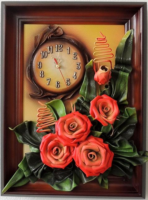 Часы с картиной своими руками 156